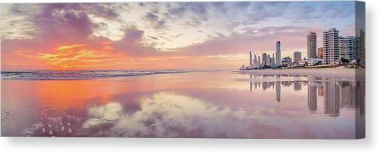City Sunrises Canvas Print - Daybreak In Paradise by Az Jackson