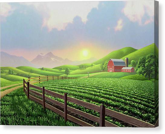 Dirt Road Canvas Print - Daybreak by Jerry LoFaro