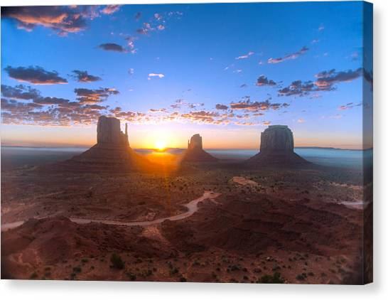 Daybreak Monument Valley Canvas Print