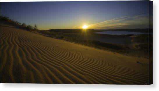 Canvas Print featuring the photograph Daybreak On The Dunes by Owen Weber
