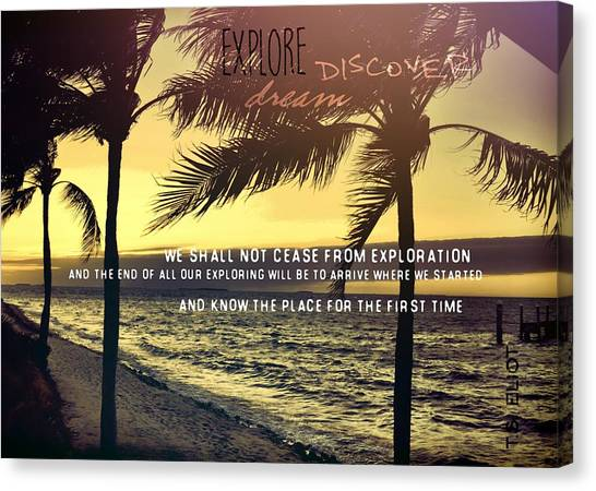 Daybreak Quote Canvas Print by JAMART Photography