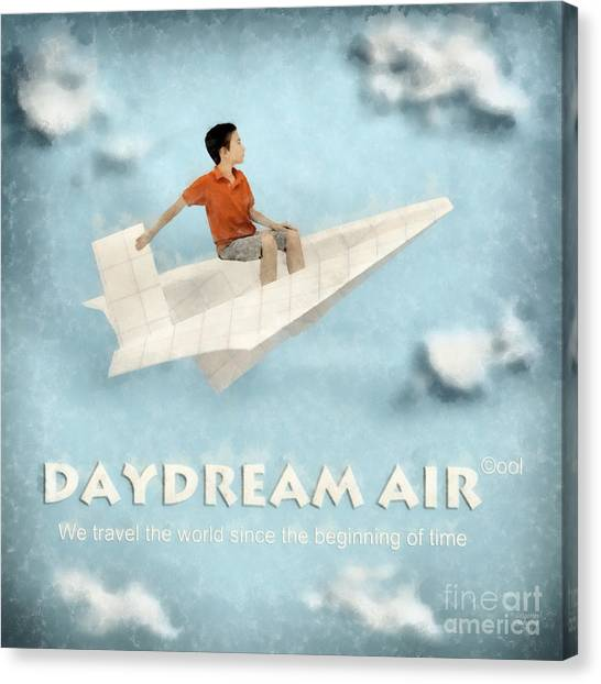 Paper Planes Canvas Print - Daydream Air by Grigorios Moraitis
