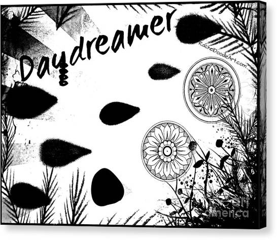 Canvas Print featuring the drawing Daydreamer by Rachel Maynard