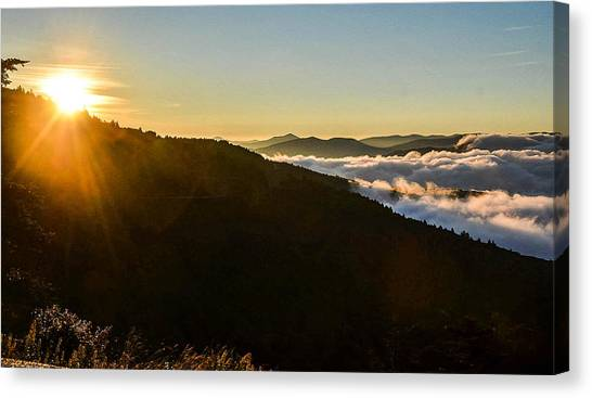 Daylight Above The Clouds Canvas Print
