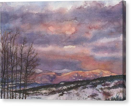 Colorado Canvas Print - Daylight's Last Blush by Anne Gifford