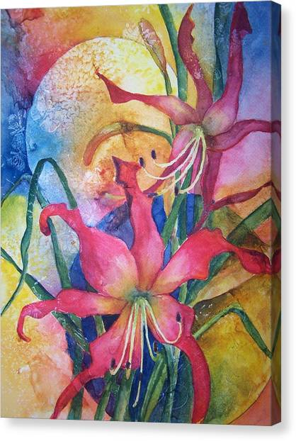 Daylilies In July Canvas Print