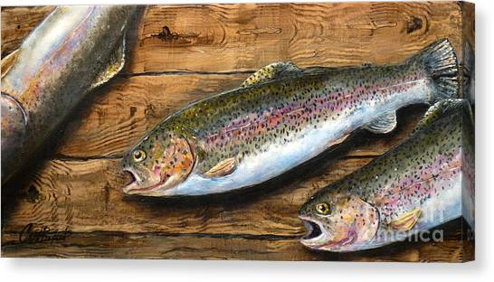 Day's Catch Canvas Print