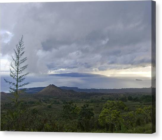 Days End At Kahoolawe Canvas Print by Charlie Osborn