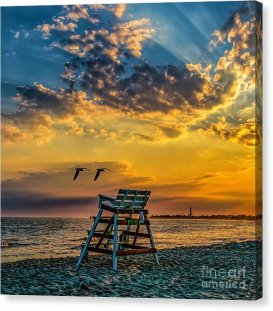 Days End In Cape May Nj Canvas Print