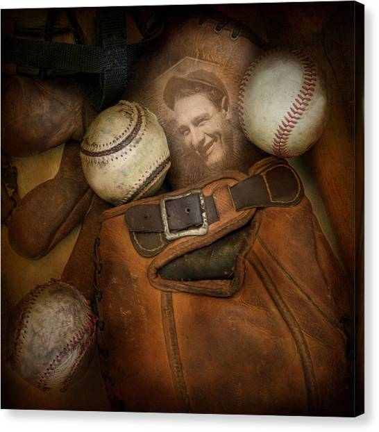 Lou Gehrig Canvas Print - Days Gone By by Robin-Lee Vieira
