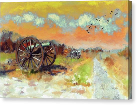 Army Of The Potomac Canvas Print - Days Of Discontent by Lois Bryan