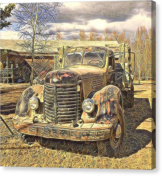 Days Of Old Canol  Canvas Print