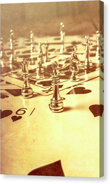 Wager Canvas Print - Days Of Old Game Play by Jorgo Photography - Wall Art Gallery