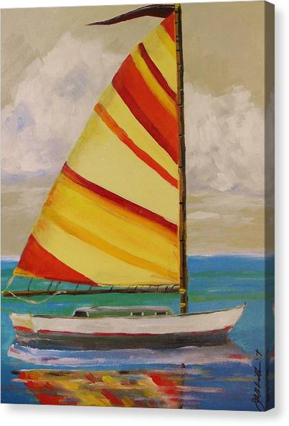 Daysailer By John Williams Canvas Print