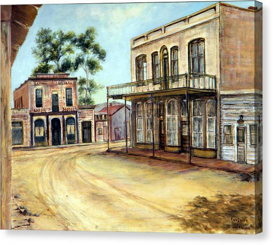 Dayton Nevada Canvas Print by Evelyne Boynton Grierson