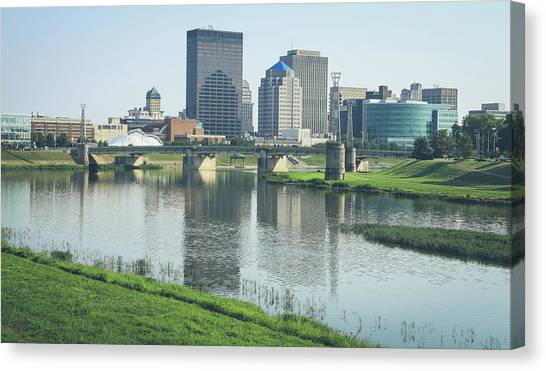 Miami University - Oxford Miami Of Ohio Canvas Print - Dayton Ohio Skyline Reflection by Dan Sproul
