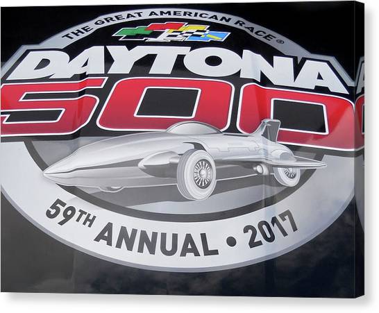 Daytona 500 Canvas Print - Daytona 500 - 2017 by Juergen Weiss