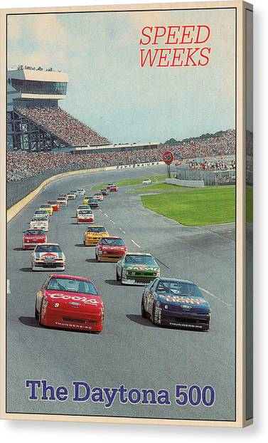 Daytona 500 Canvas Print - Daytona 500-winter Getaway by Eugene Kowalski