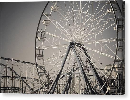 Wheels Canvas Print - Daytona Beach Ferris Wheel by Joan Carroll