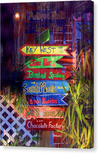 Daytona Signs Canvas Print
