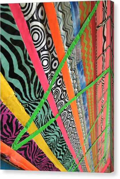 Dazzling Delirious Duct Tape Diagonals Canvas Print