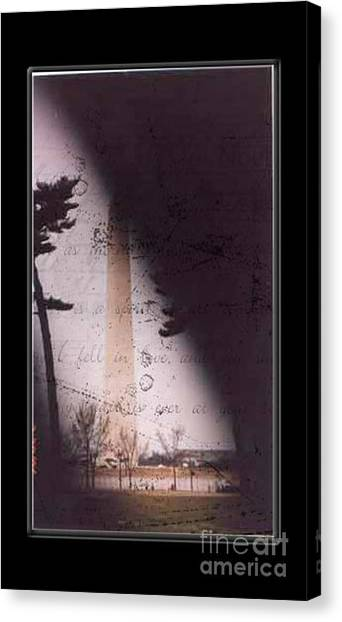 Dc Grunge  Canvas Print by Lynn Gettman