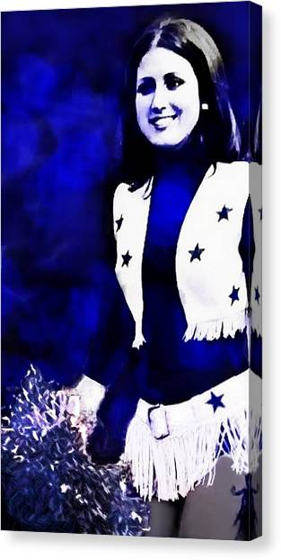 Dallas Cowboys Cheerleaders Canvas Print - Dcc 4ever Paula by Carrie OBrien Sibley