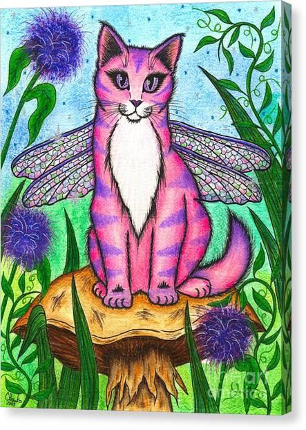 Dea Dragonfly Fairy Cat Canvas Print
