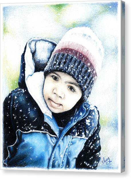 Deacon In The Snow Canvas Print