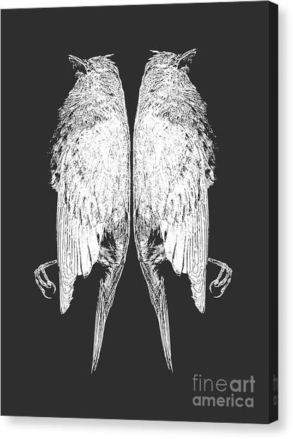 Concert Images Canvas Print - Dead Birds Tee White by Edward Fielding
