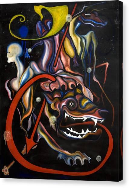 Dead Dog Canvas Print