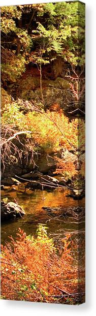 2 Of 6 Dead River Falls  Marquette Michigan Section Canvas Print
