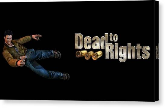Hands Canvas Print - Dead To Rights by Maye Loeser