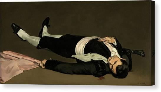 Unconscious Canvas Print - Dead Toreador by Edouard Manet