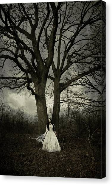Bride Canvas Print - Dead Tree by Cambion Art