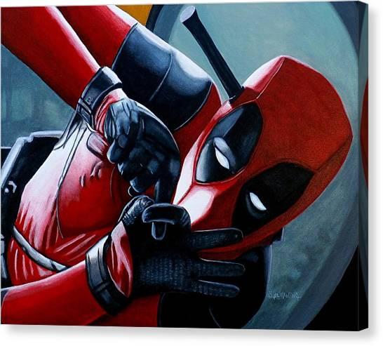 Deadpool Really Loves You Canvas Print