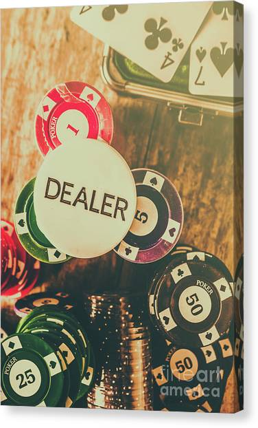 Wager Canvas Print - Dealers House Edge by Jorgo Photography - Wall Art Gallery