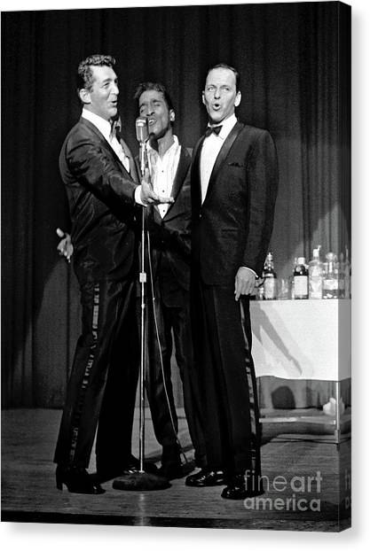 Dean Martin, Sammy Davis Jr. And Frank Sinatra. Canvas Print