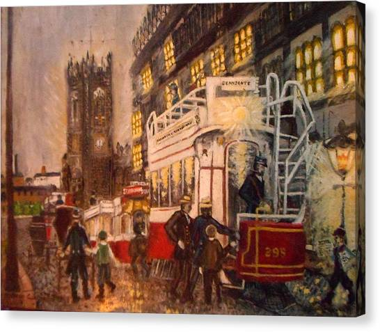 Deansgate With Tram Canvas Print
