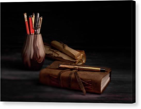 Swans Canvas Print - Dear Diary by Tom Mc Nemar