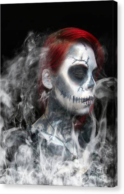 Death Canvas Print - Death Becomes Us by Smart Aviation