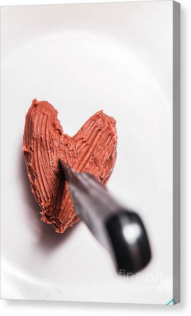 Heart Shape Canvas Print - Death By Chocolate by Jorgo Photography - Wall Art Gallery