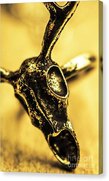 Longhorn Canvas Print - Death Commitment by Jorgo Photography - Wall Art Gallery