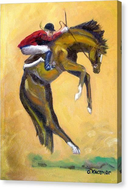 Death Defying Ride Canvas Print by Olga Kaczmar