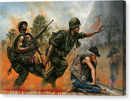 Vietnam War Canvas Print - Death Followed Us Home by Dan Nance