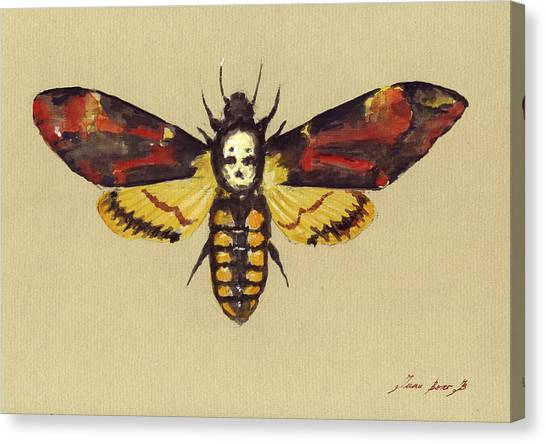 Death Canvas Print - Death Head Hawk Moth by Juan Bosco