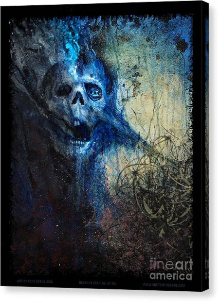 Death Is Staring At Me Canvas Print