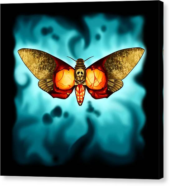 Silence Of The Lambs Canvas Print - Death Moth by Wolfgang Robinson
