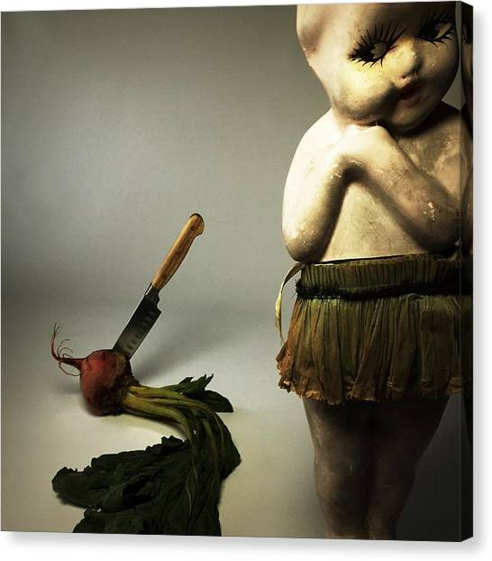 Horror Canvas Print - Death Of A Vegetable by Subject Dolly