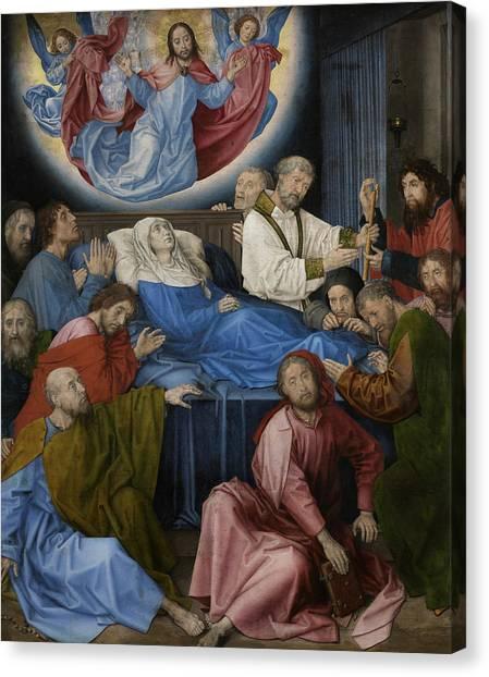 Early Christian Art Canvas Print - Death Of The Virgin by Hugo van der Goes